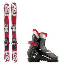 K2 Apache Junior Skis, Bindings & Boots Package - USED