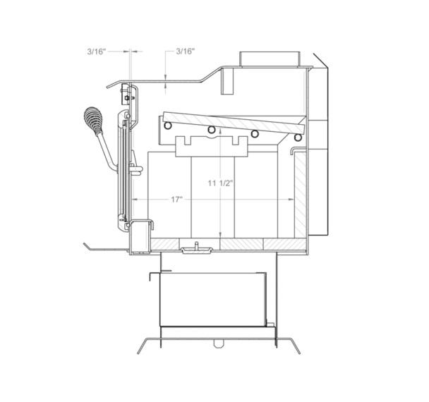 Century Heating Large Wood Stove FW3000