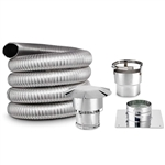 5.5 Inch Round, Chimney Liner Kit, SINGLE PLY