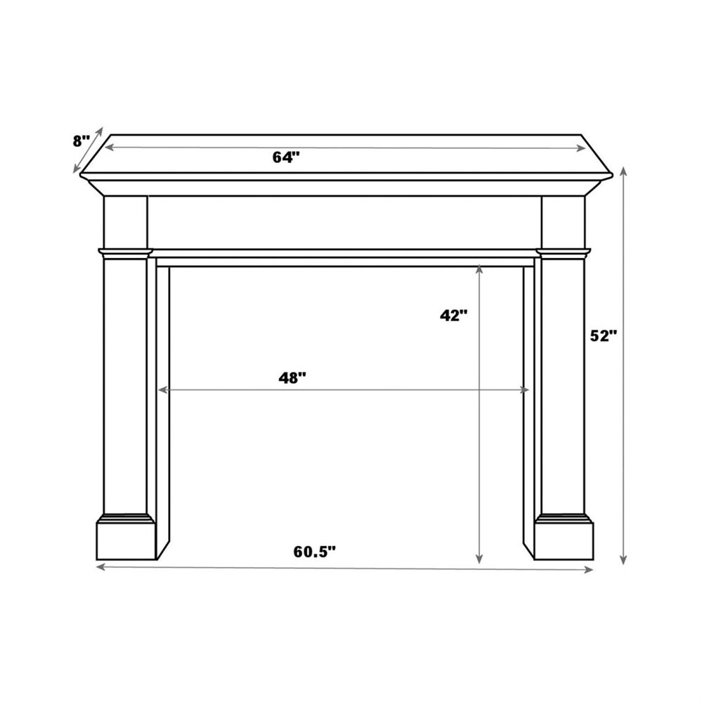 Fireplaceinsert.com, Pearl Mantels Williamsburg Fireplace Mantel ...