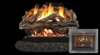 Peterson Real Fyre Vented Gas Log Set Charred Aged Split GF
