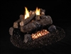 Peterson Real Fyre Vent Free Gas Log Set Charred Evening Fyre See-Thru