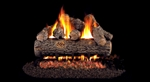 Peterson Real Fyre Vented Gas Log Set Golden Oak Designer Plus