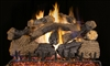 Peterson Real Fyre Outdoor Gas Log Set Charred Grizzly Oak