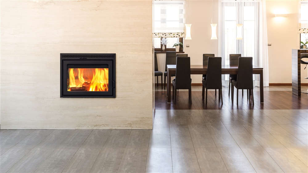 Supreme double sided fireplace for Double sided open fireplace