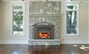 Supreme Volcano Plus Fireplace Insert with Arched Diamond Grill