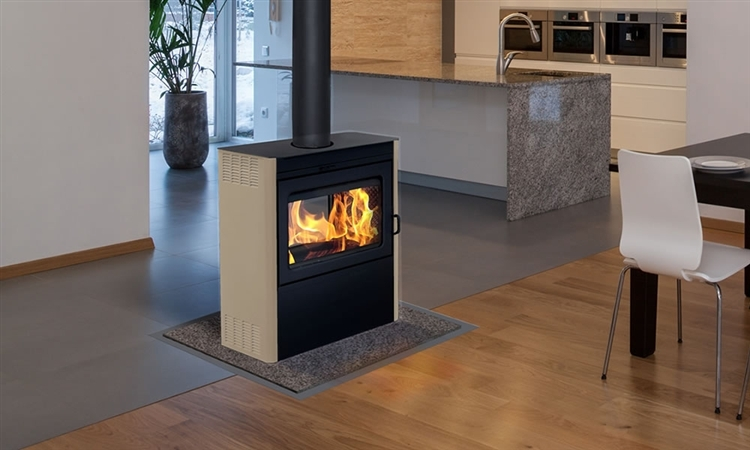 Supreme Vision Stove Metallic Black With Almond Is A