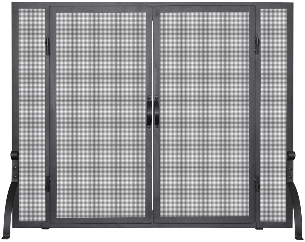 Brilliant Uniflame Black Fireplace Screen With Doors Download Free Architecture Designs Photstoregrimeyleaguecom