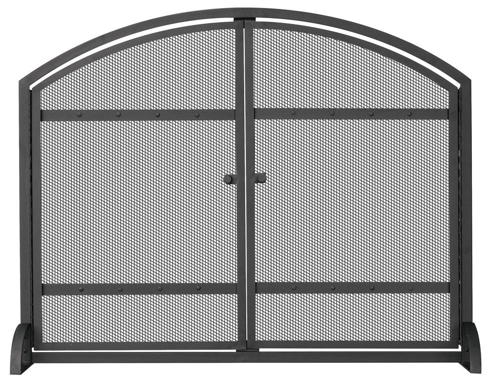 uniflame fireplace screen panel fireplace uniflame black single panel fireplace screen with doors and rivets