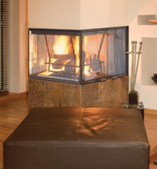 Vantage Hearth Peninsula Wood Fireplace