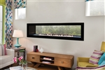 White Mountain Hearth by Empire Vent Free See-Through Linear Gas Fireplace Boulevard 60""
