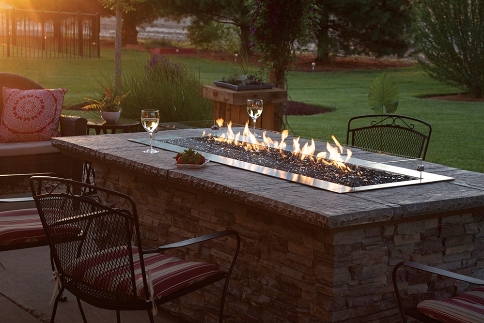 White Mountain Hearth by Empire Outdoor Linear Gas Fire Pit 48""