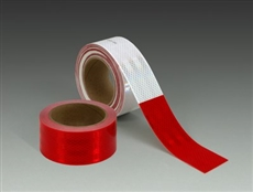 "983-32ES -Red/White 50mm x 45.7m 3Mâ""¢ Diamond Gradeâ""¢ Vehicle Marking Tapes 983 Series"