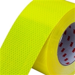 "100mm roll of Fluorescent Yellow Green 3Mâ""¢ Diamond Gradeâ""¢ Cubed (DG3) Reflective Tape 45.7m roll"
