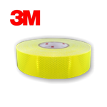 "50mm roll of Fluorescent Yellow Green 3Mâ""¢ Diamond Gradeâ""¢ Cubed (DG3) Reflective Tape 45.7m roll"