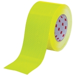 "75mm roll of Fluorescent Yellow Green 3Mâ""¢ Diamond Gradeâ""¢ Cubed (DG3) Reflective Tape 45.7m roll"