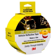 "983-23-ES - Fluorescent-Yellow/Green 76mm x 45.7m 3Mâ""¢ Diamond Gradeâ""¢ Vehicle Marking Tapes 983 Series"