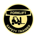 HARD HAT EMBLEM FORKLIFT SAFETY.. CD4