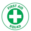 HARD HAT EMBLEM FIRST AID SQUAD CD4