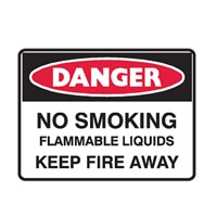 NO SMOKING FLAMMABLE LIQ..600X450 FLU
