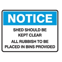 NOTICE SHED SHOULD BE KEPT..600X450 FLU