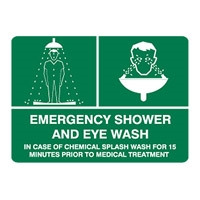 EMERGENCY SHOWER AND EYE.. 450X600 MTL