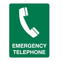 EMERGENCY TELEPHONE 450X300 MTL
