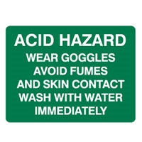 ACID HAZARD WEAR GOGGLES.. 450X300 MTL