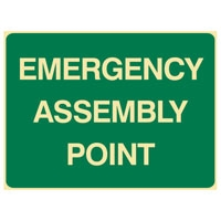 EMERGENCY ASSEMBLY POINT 450X600 MTL