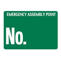 EMERGENCY ASSEMBLY POINT.. 450X600 MTL