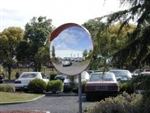OUTDOOR ACRYLIC MIRROR W/MOUNT 457MM DIA