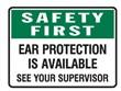 SAFETY FIRST EAR PROTECTIO..450X300 POLY