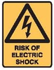 RISK OF ELECTRIC SHOCK LBLS PK5