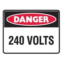 DANGER 240 VOLTS LBLS PK5