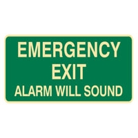 EXIT&EVAC SIGN EMERGENCY EXIT.. LUM SS