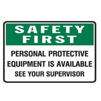 PERSONAL PROTECTIVE EQUIP..450X300 POLY