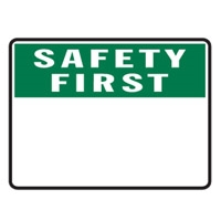 BLANK SIGN PANEL SAFETY.. 600X450 MTL