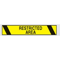 AISLE MARKING TAPE B-950 RESTRICTED AREA