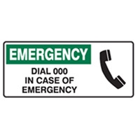EMERGENCY DIAL 100 IN CASE..450X180 POLY