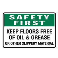 SAFETY FIRST KEEP FLOORS FREE.. 600X450