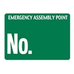 EMERGENCY ASSEMBLY POINT.. 450X600 POLY