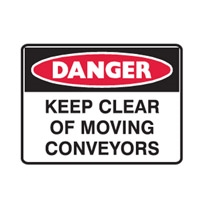 DANGER KEEP CLEAR OF MOV.. 450X300 POLY