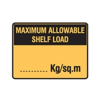 MAXIMUM ALLOWABLE SHELF..600X450 POLY
