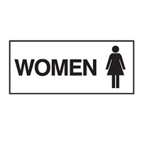 DOOR SIGN WOMEN 300X125 SS