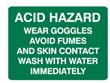 ACID HAZARD WEAR GOGGLES.. 250X180 SS