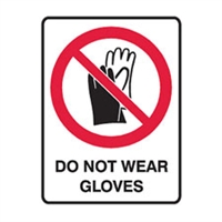 DO NOT WEAR GLOVES 125X90 SS PK5