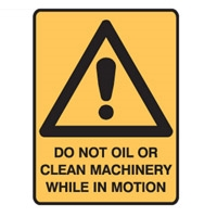 DO NOT OIL OR CLEAN MACHINERY..LBLS PK5
