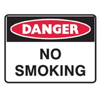 DANGER NO SMOKING LBLS PK5