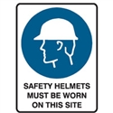 SAFETY HELMETS MUST BE WOR..450X300 MTL