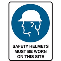 SAFETY HELMETS MUST BE WORN..250X180 SS